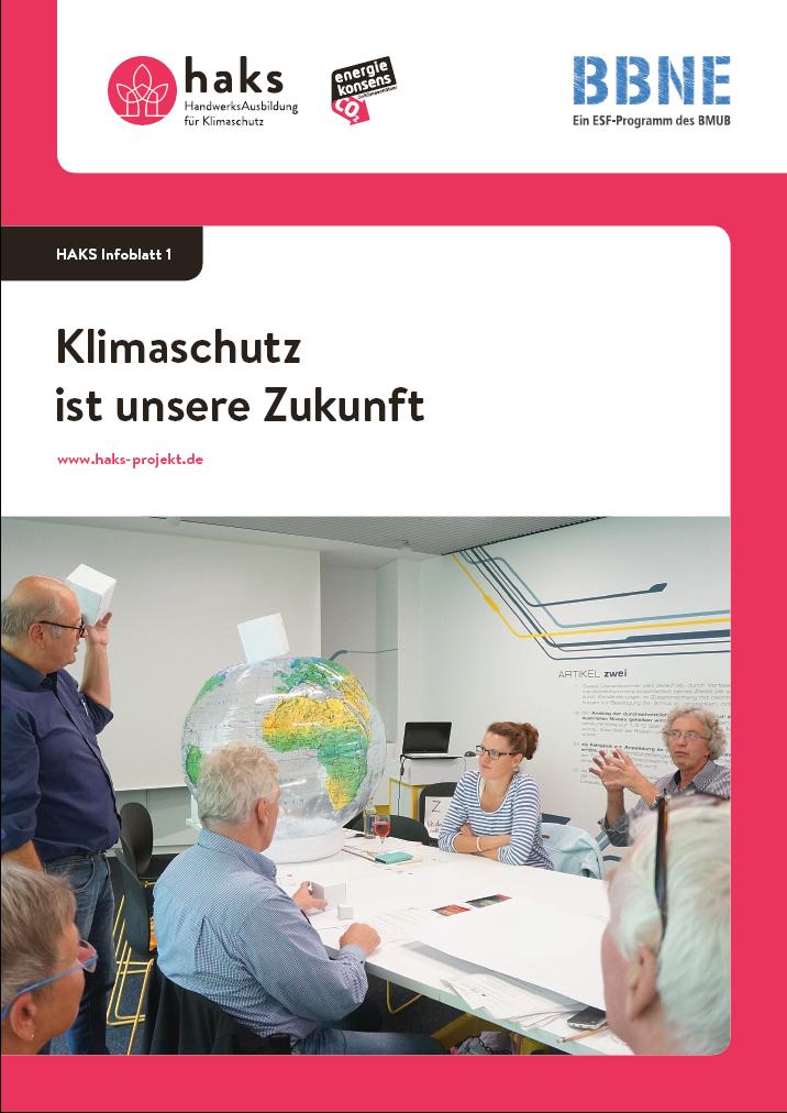 Infoblatt Klimaschutz ist unsere Zukunft