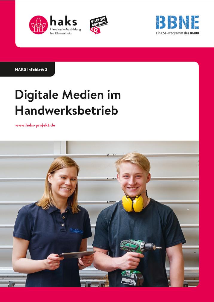 Infoblatt Digitale Medien im Handwerksbetrieb
