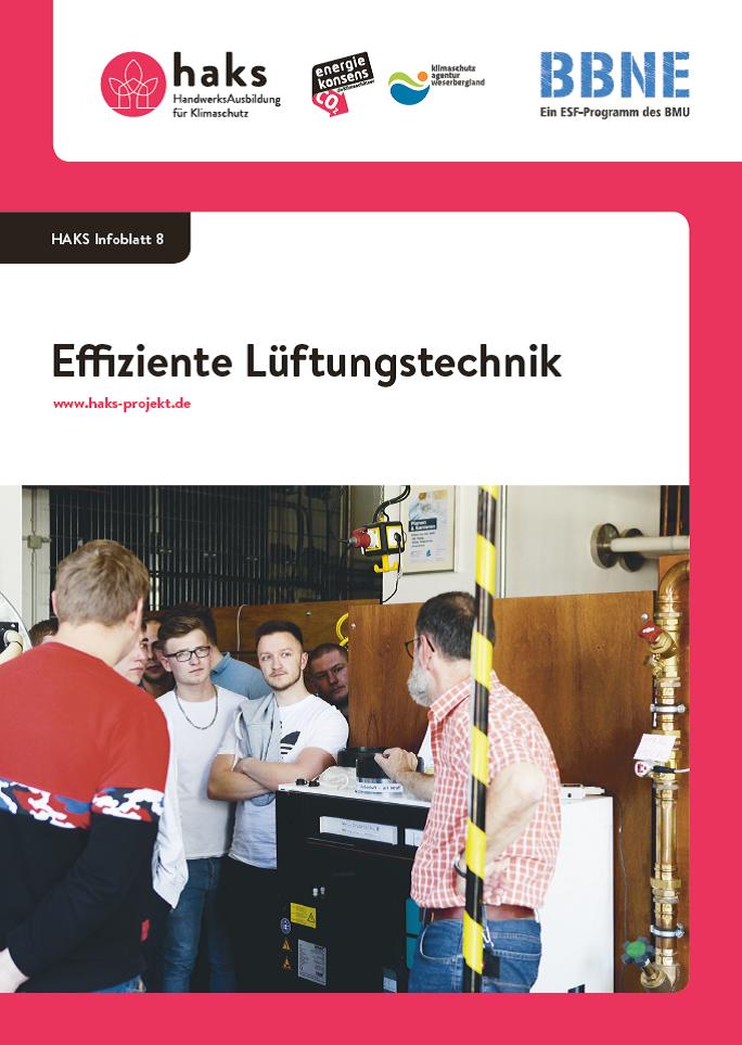 Infoblatt Effiziente Lüftungstechnik