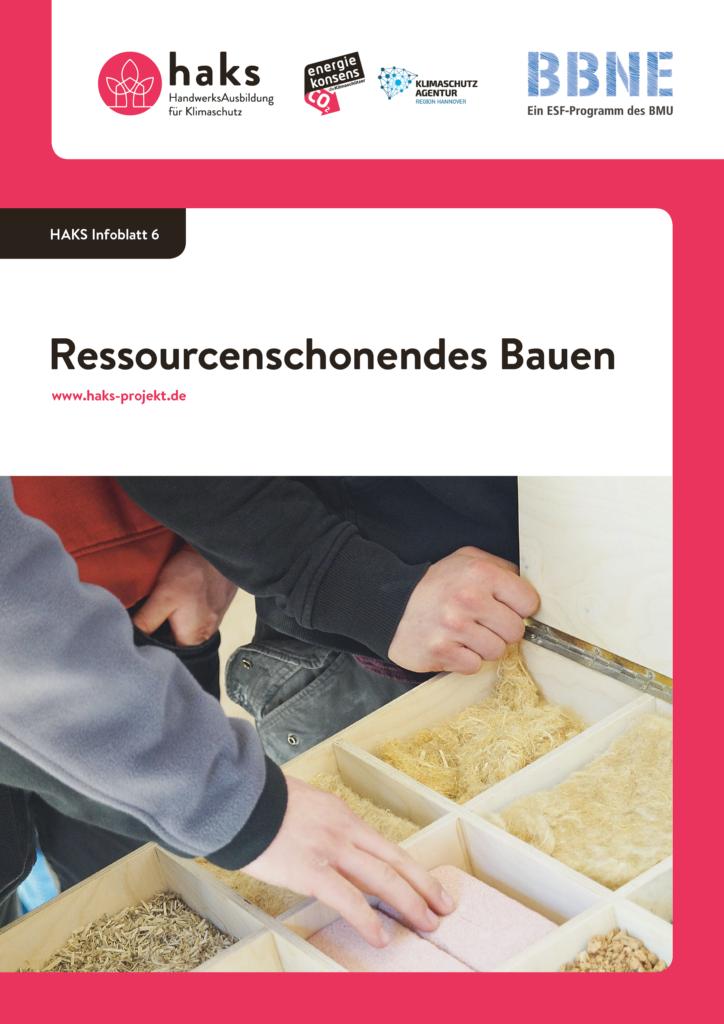 Infoblatt Ressourcenschonendes Bauen